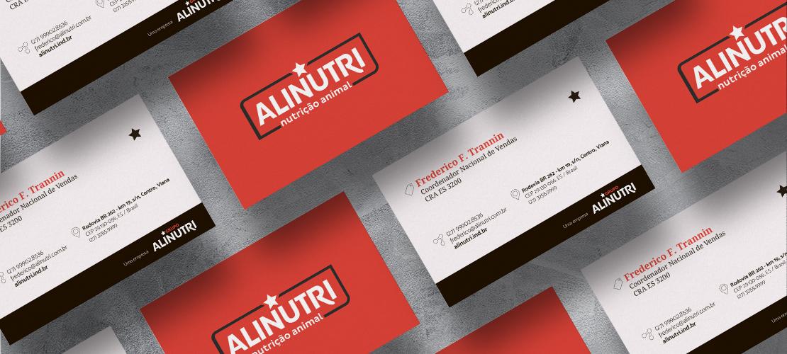Case Alinutri Nutrição Animal - Cartão - Aldeia Marketing de Conteúdo
