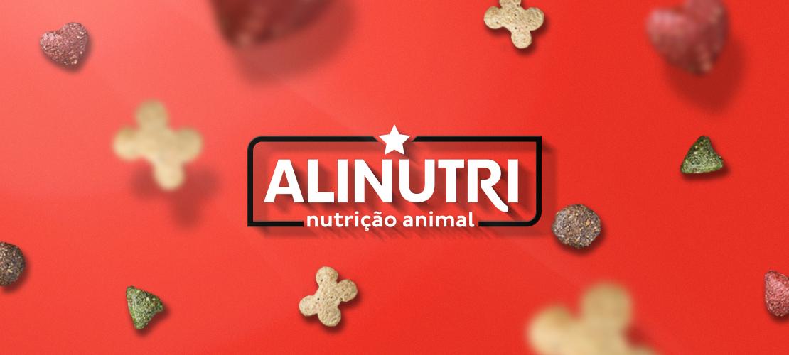 Identidade visual Alinutri Nutrição Animal - Aldeia Marketing de Conteúdo