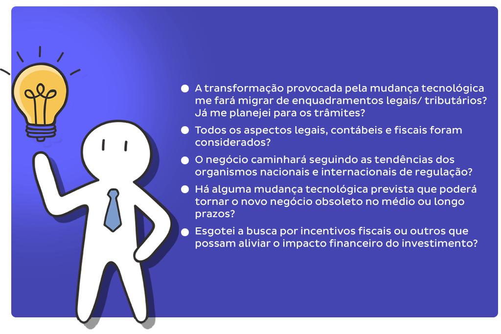 """Layout com perguntas diversas ilustra post """"Inovar é para agora?"""", do blog da Aldeia Marketing de Conteúdo."""