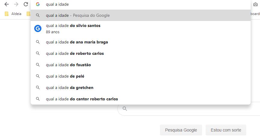 Pesquisa dinâmica no google